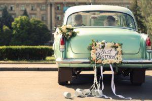 Esküvői rendszámtábla az emlékezetes pillanatokért