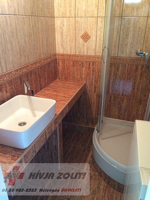 Teljes fürdőszoba átalakítás