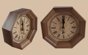 Egyedi fa falióra: stílus az időmérés terén otthon is